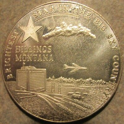 1964 Billings, Montana Centennial Sterling Silver Round Medal - Mont. MT