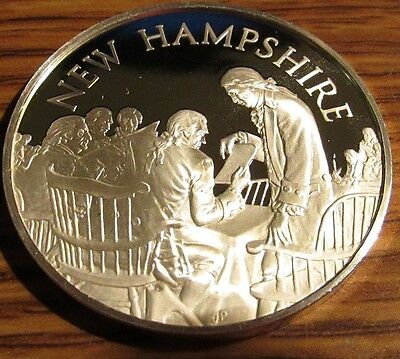 1974 New Hampshire Franklin Mint Sterling Silver Round - NH 24.1 grams