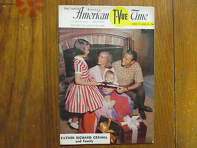 1960 Baltimore American T-Vue Time Mg(RICHARD CRENNA/THE REAL McCOYS/KAY STEWART