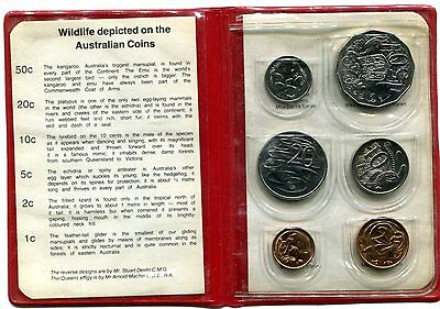 Australia 1983 Mint Set in Vinyl Wallet, PVC on Coins