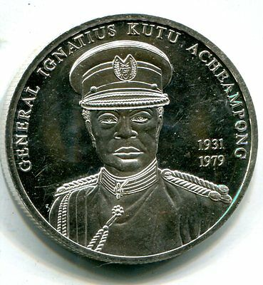 Ghana 2002 100 Sika, General Acheampong, KM Unlisted, BU