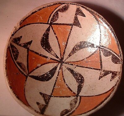 Antique Acoma Pueblo Native American Indian Pottery bowl EARLY - repaired