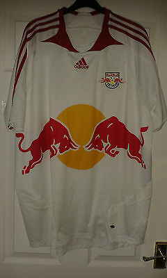 2 X Mens Football Shirt - Red Bull Salzburg - Austria - Adidas - Home Away 2007