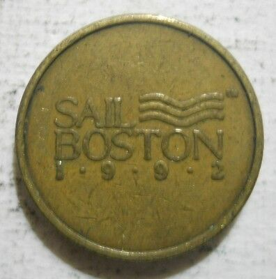 Massachusetts Bay Transportation Authority (Boston) transit token - MA115AO