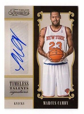 Marcus Camby Nba 2012-13 Timeless Treasures Timeless Talents Signatures (Knicks)