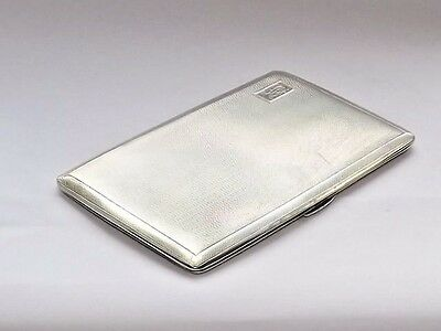 VINTAGE GOOD QUALITY HEAVY 203g SOLID SILVER STERLING CIGARETTE CASE B/HAM c1944