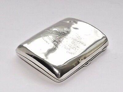 Antique Victorian Deakin & Francis Solid Silver Sterling Cigarette Case Brm 1901