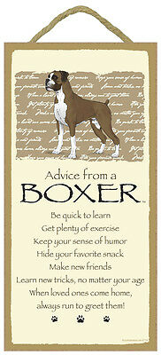 Advice From A  BOXER 10 x 5 Wood SIGN Plaque USA Made