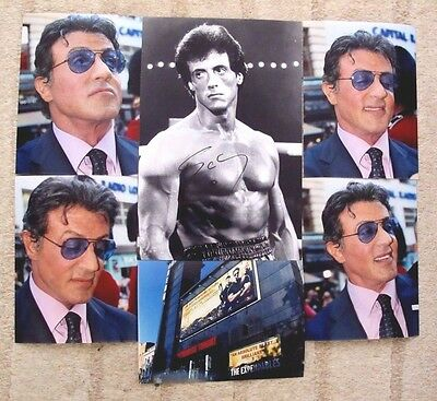 "Sylvester Stallone Hand Signed 12X8"" Autographed Photo + Five 8X6"" Proofs"