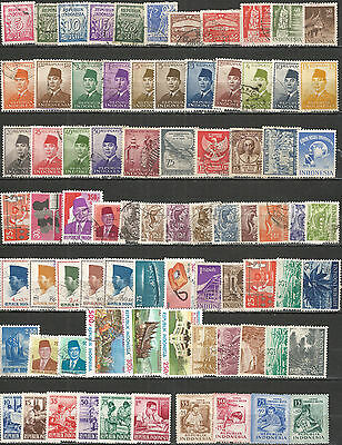 Indonesia nice collection old  mint/used stamps