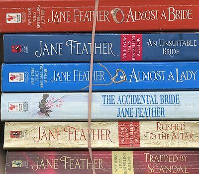 Lot Of 6 Pb~Jane Feather~Almost A Bride~Almost A Lady~Unsuitable Bride~Accidenta