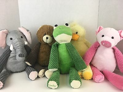 Lot 5 Scentsy Buddy Buddies Plush Duck Frog Elephant Bear Pig with Scent Packs