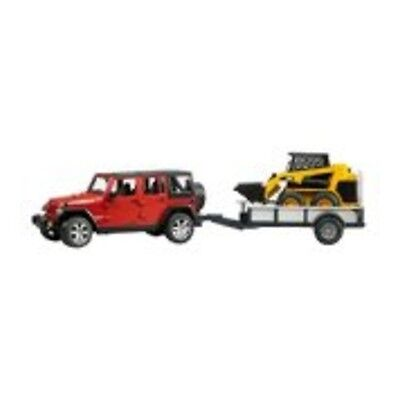 BRUDER Modellino Bruder Jeep with Trailer and CAT [33107617]