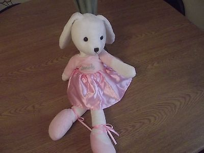 Harrods Bear - Limited Edition Large Ballerina Bunny Rabbit  - Ivory / Pink-14""