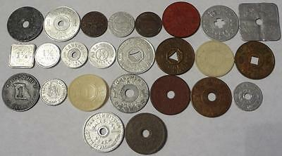Lot Of 25 Different Tax Tokens, 12 Different States