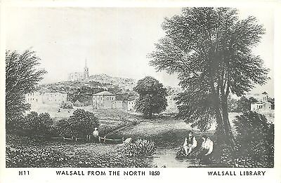 s05775 REPRO From the North 1850, Walsall, Staffordshire England postcard unsent