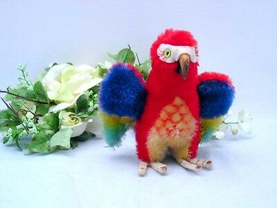 STEIFF PARROT LORA, 12 cm with button and tag