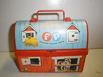Fisher Price Toy Lunch Box Farm Miniature Farm Barn #549 Vintage 1962 NO THERMOS