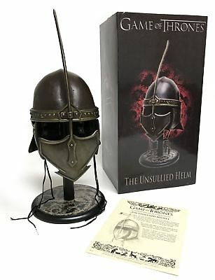 Game of Thrones™ Leather and Steel Unsullied Replica Helmet Prop with Stand