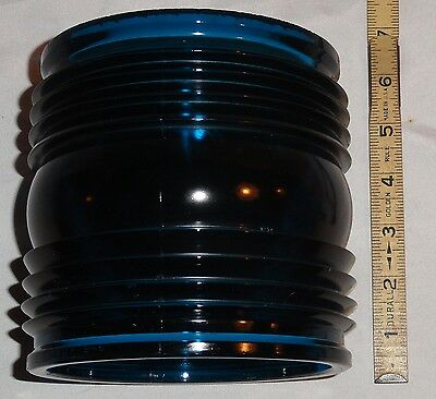 GTG Blue 1940s Ship Running Light Lantern Fresnel Globe Lens ELCO PT Boat Part #