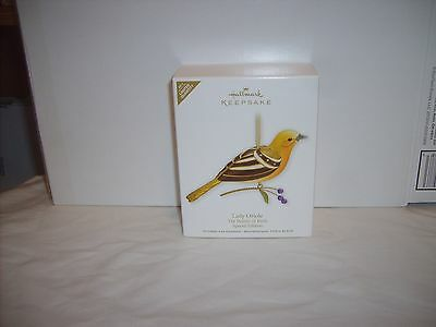 NIP 2011 Hallmark Keepsake The Beauty Of Birds-Lady Oriole-Limited Quantity