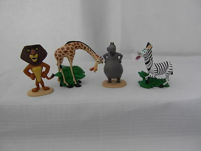 MADAGASCAR Cake TOPPER DECOPAC PVC FiguRES set 4 MARTY¤GLORIA¤MELMAN¤ALEX