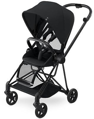 Cybex Mios Lightweight Compact Single Baby Stroller Black Frame Stardust Black