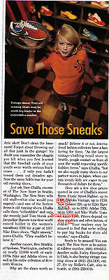 "1996 ""Save Those Sneaks"" Collectible Running Shoes Vintage Photo Article"