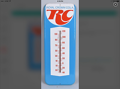 Royal Crown a tin Thermometer excellent condition 25 inch working