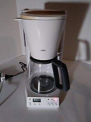 TESTED Vintage BRAUN Flavor Select 12 Cup Coffee Maker KF-187 Type 3116 White