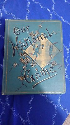 1880`s Our National Game Baseball Color Lithographs Trade Cards Scrapbook