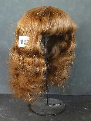"Human Hair DOLL WIG size 18.3"" (46.5cm). Long red-brown hair. DISCOUNT -40%"