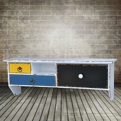 Design Shabby Look Shoes Cupboard Shelf TV Living room Couch Shelf Sideboard
