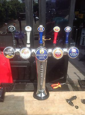 5 Tap Beer Pump - Bar - Fosters Amstal Kronenbourg John Smiths Strongbow