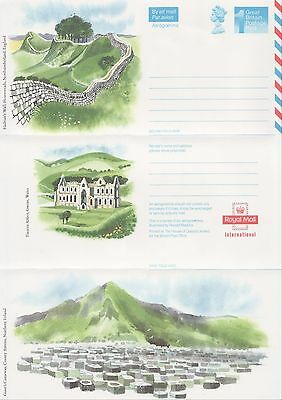 GB Stamps Aerogram / Air Letter APS76 - 1st NVI Landmarks Issue,Hadrian Wall1989