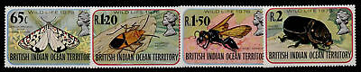 British Indian Ocean Terr 86-9 MNH Insects, Moths
