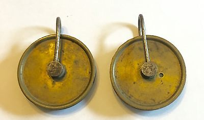 Pair Of Antique Long case /grandfather Clock Pulleys