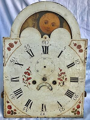 Rolling Moon GrandFather Clock Dial And Movement By Peter Collier Manchester 13""