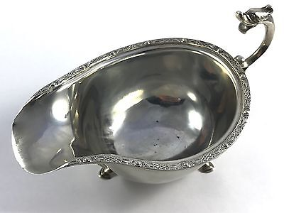 Lovely Solid English Sterling Silver Gravy Boat Goldsmiths & Silversmiths 126.9g