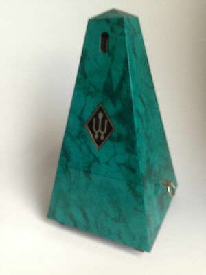 Wittner Metronome Sapphire Green Marble Effect - Clockwork - Used -Free P+P