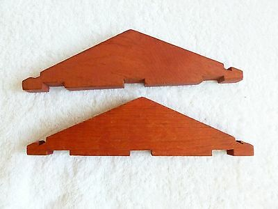 "2 8 1/4"" classic Lincoln Logs Vintage WOOD RED ROOF Gable Ends three log notches"
