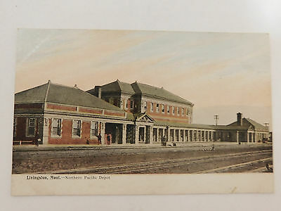 Post Card Livingston Mt Northern Pacific Depot