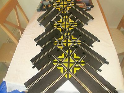 Scalextric Sports Track (Four) Used C8210 Straight Crossovers