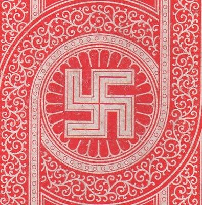 Playing Cards Single Swap Antique Wide Geometric Peacetime Good Luck SWASTIKA 2