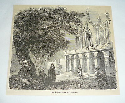 1877 magazine engraving ~ THE MONASTERY OF CIMIES ~ Cimies, France