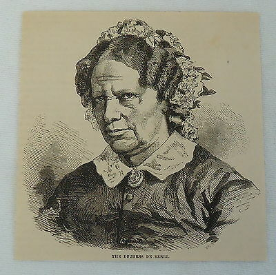 1882 magazine engraving ~ DUCHESS DE BERRI France