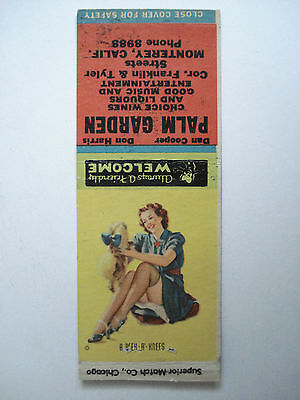 Palm Garden Choice Wines And Liquors Calif. U.s.a. Matchcover Vintage