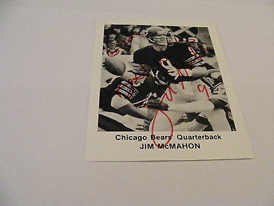 JIM McMAHON Signed promo photo Autograph American Football Chicago Bears