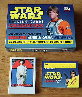 2017 TOPPS Star Wars 1978 Sugar Free Bubble Gum Wrappers Trading Cards 49 Set