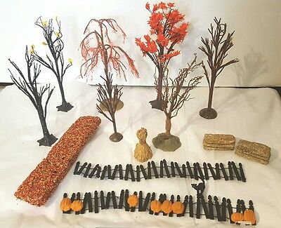 Nice Lot Of Dept.56 Fall & Halloween Trees And Accessories